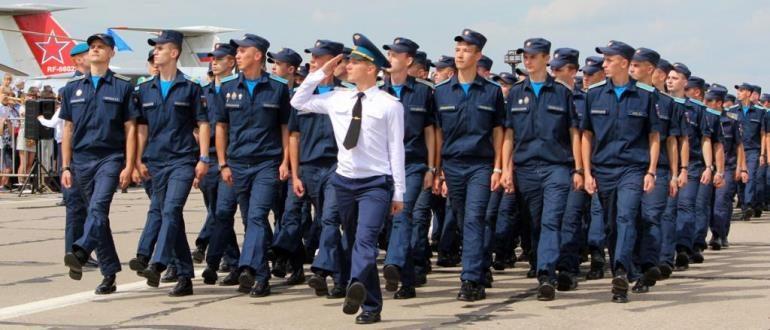 Служба в ВВС по призыву и контракту