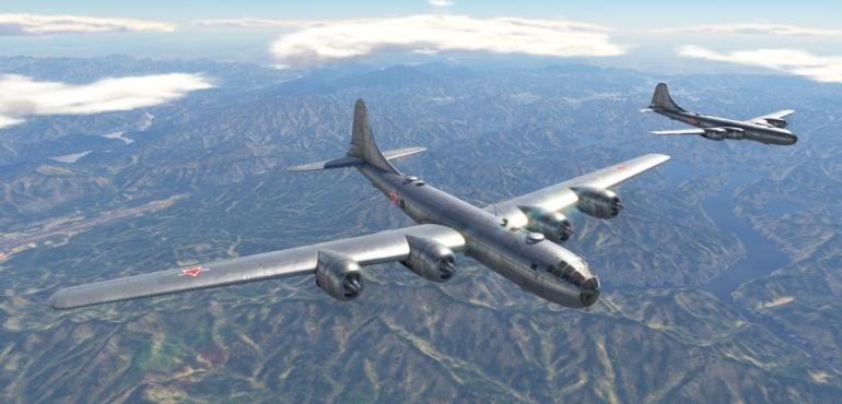 На самолет установили 4 18-цилиндровых поршневых двигателя воздушного охлаждения