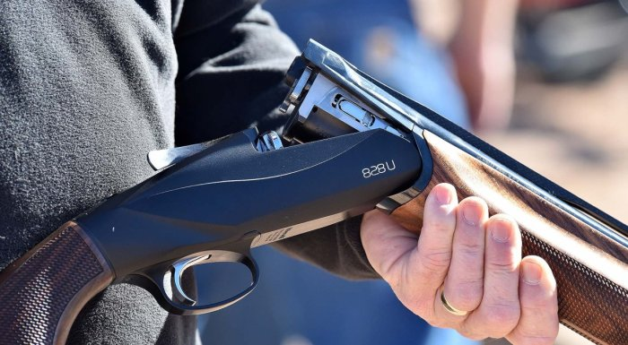 Ружье в руках