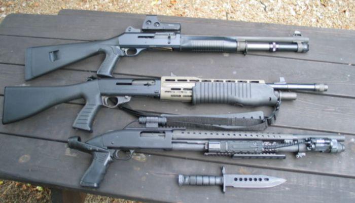 Несколько видов ружья