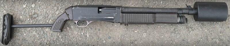 Модель М со специальной насадкой для отстрела газовых гранат