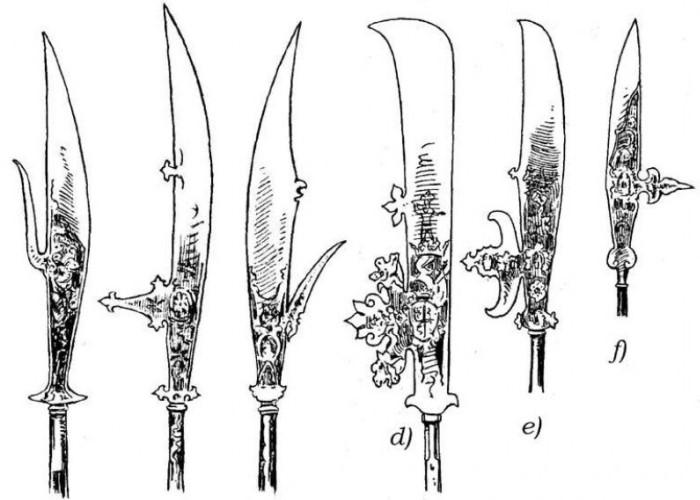 Разные виды глефы