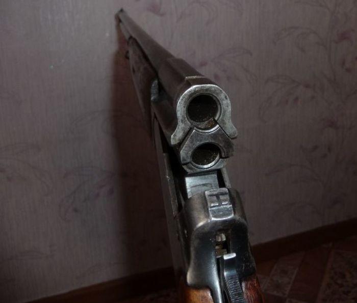 Советское двуствольное ружье Олень