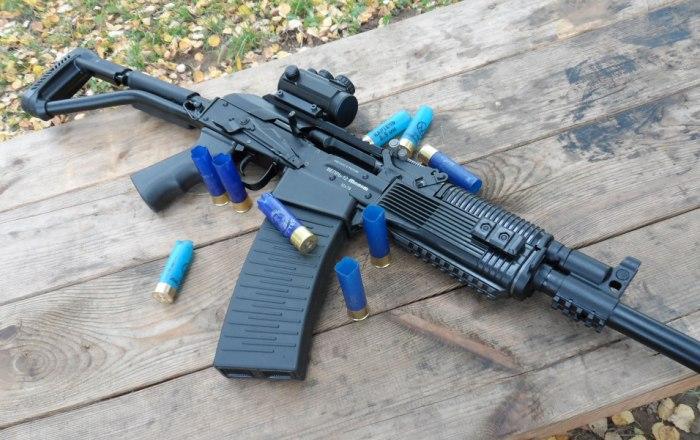 Ружье с патронами