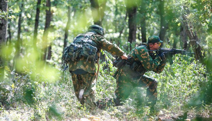 Спецназ в лесу