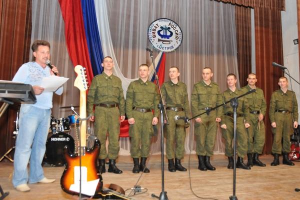 Солдаты на конкурсе