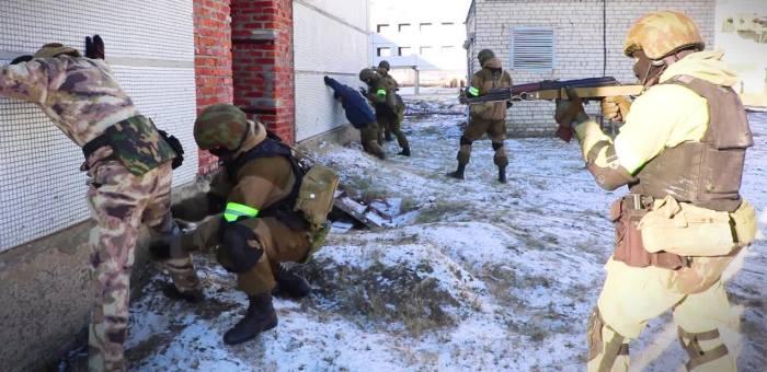Обучение солдат в Чернобыле