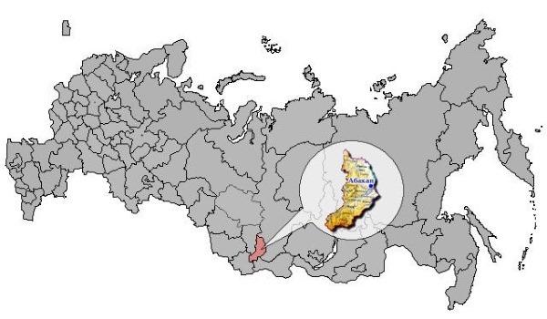 Абакан на карте РФ