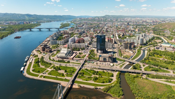 Вид города сверху