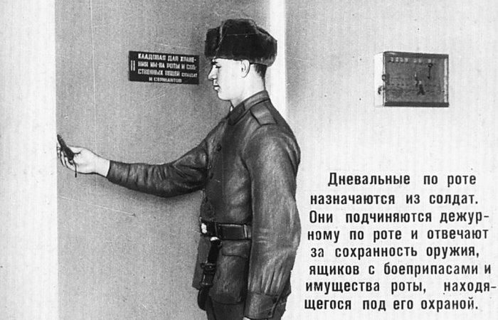Дневальный по роте назначается из солдат