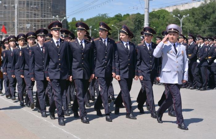 На параде