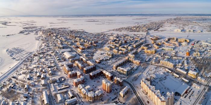 Внешний вид города зимой