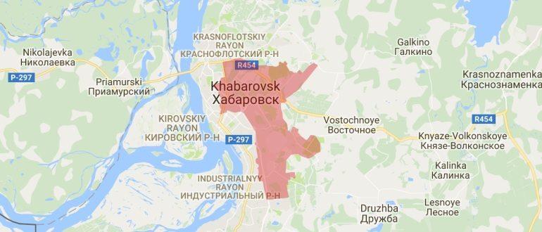 Воинские части в Хабаровске